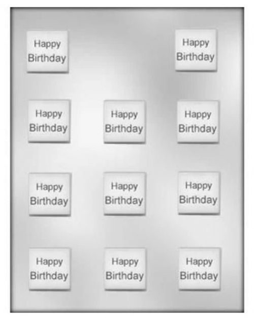 Birthday Mint Square Chocolate Mould
