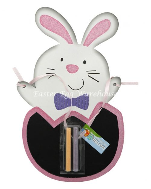 Bunny Rabbit Easter Chalkboard with 2 Pieces Chalk
