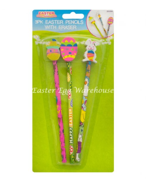 Easter Pencils with Eraser Toppers