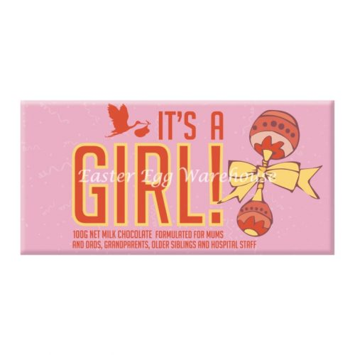 It's a GIRL! - Milk Chocolate Bar 100g