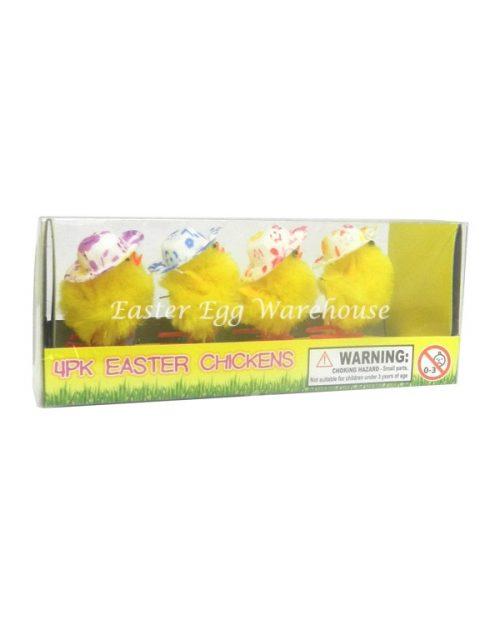 Easter Chick with Hat 4pk