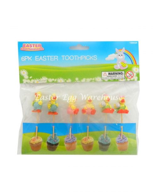 Easter Toothpicks Ducks 6pk