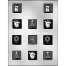 Christmas Square Mint Chocolate Mould