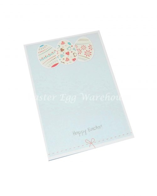 Easter Notepad 13cm - Blue with Eggs