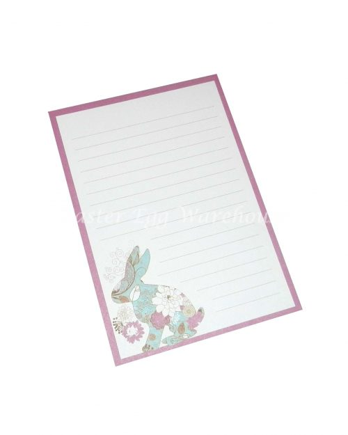 Easter Notepad 13cm - Floral Bunny