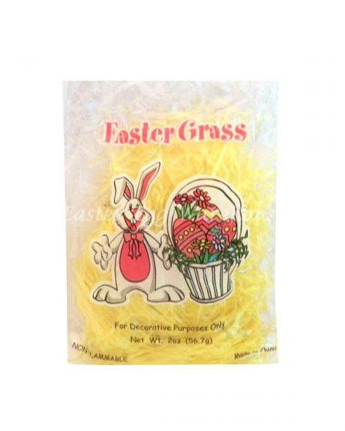 Plastic Easter Grass Yellow 56g