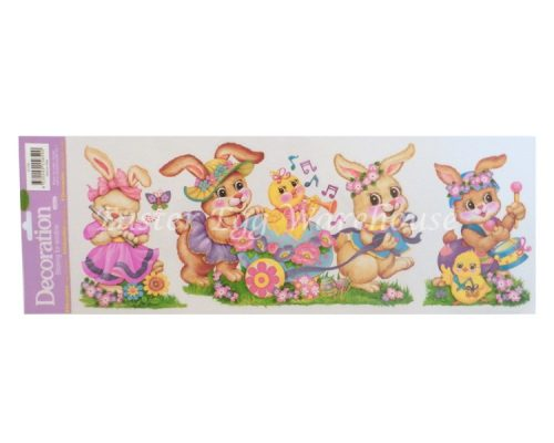 Glitter Window Stickers - Musical Bunnies