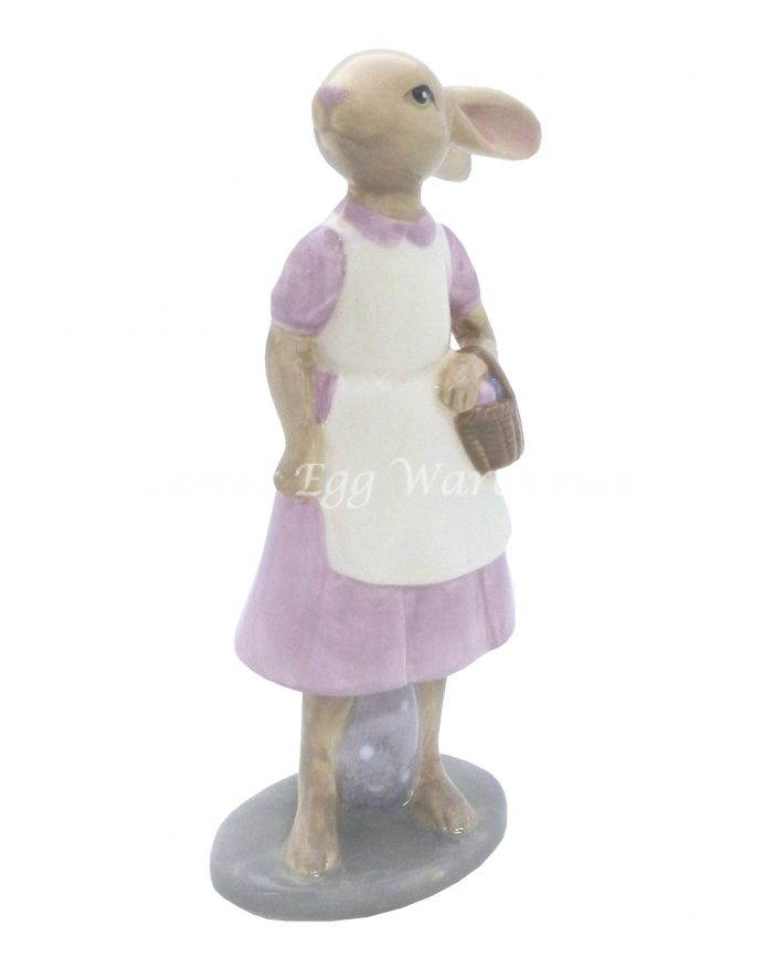 Dolomite Rabbit and Egg Decoration - Female (small)