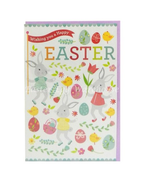 Easter Card - Bunnies at Play