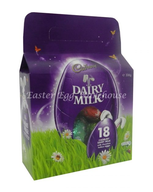 Cadbury Dairy Milk Carry Pack 306g (18 x 17g Eggs)