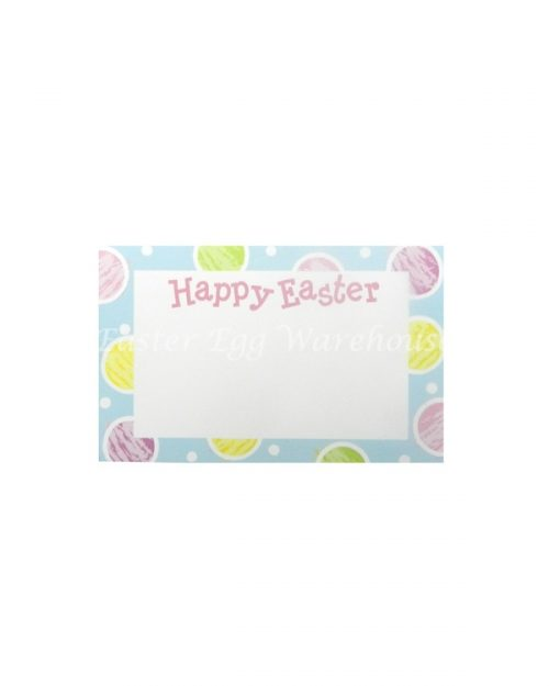 Happy Easter Gift Tag - Blue Spots