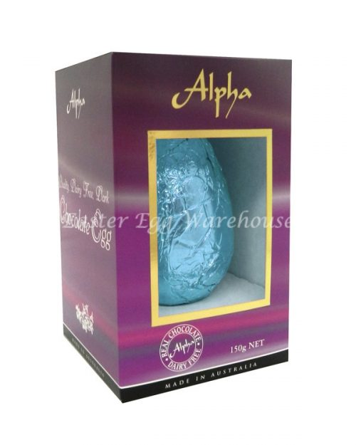 Alpha Dairy Free, Nut Free Chocolate Egg 150g - Assorted Coloured Foil