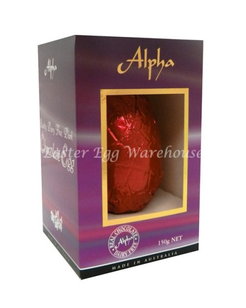 Alpha Dairy Free, Nut Free Chocolate Egg 150g - Red Foil