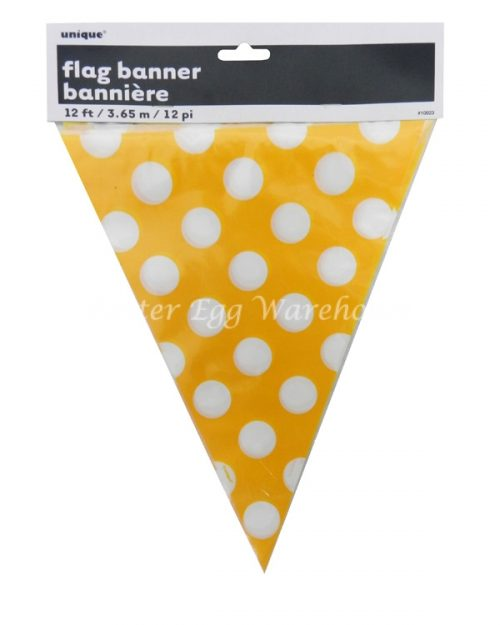 Flag Banner 12ft - Yellow Spots