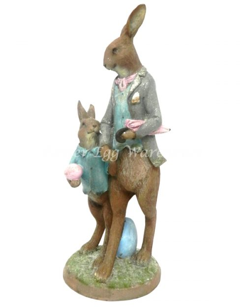 Resin Rabbit Father & Son Decoration