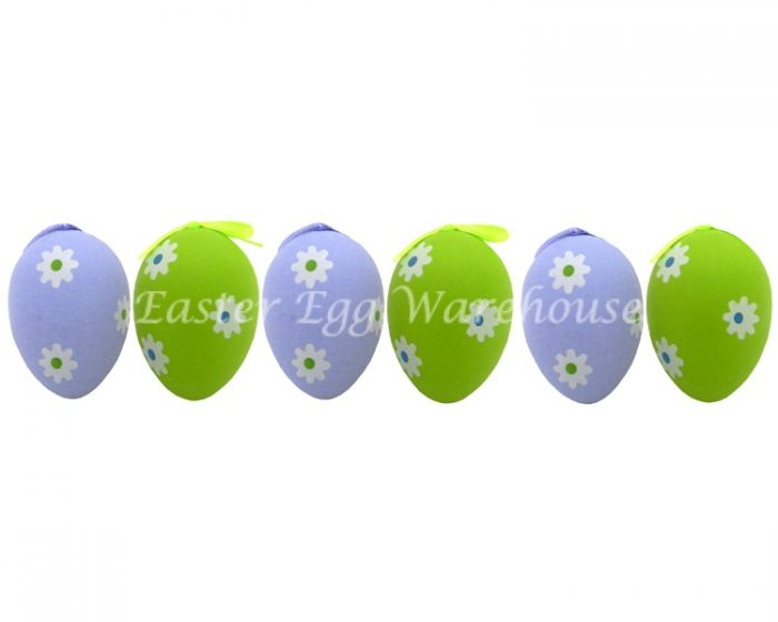 Decorative Easter Eggs 6pk - Blue & Green