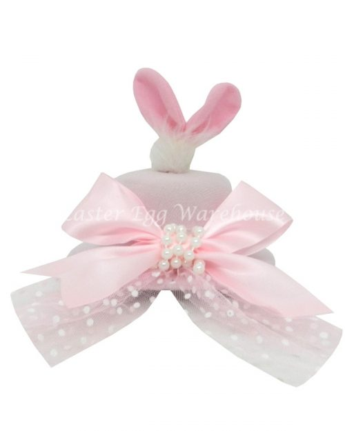 Pink Mini Easter Top Hat with Bow/Pearls