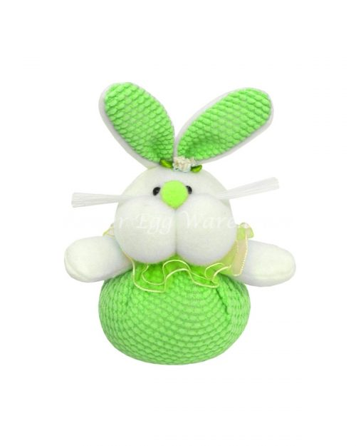 Easter Bunny Big Cheeks Soft Toy - Green