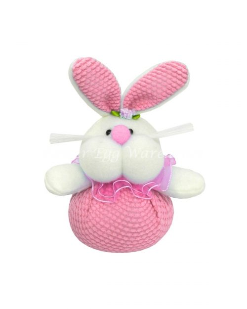 Easter Bunny Big Cheeks Soft Toy- Pink