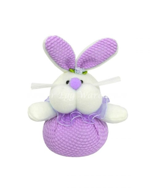 Easter Bunny Big Cheeks Soft Toy - Purple