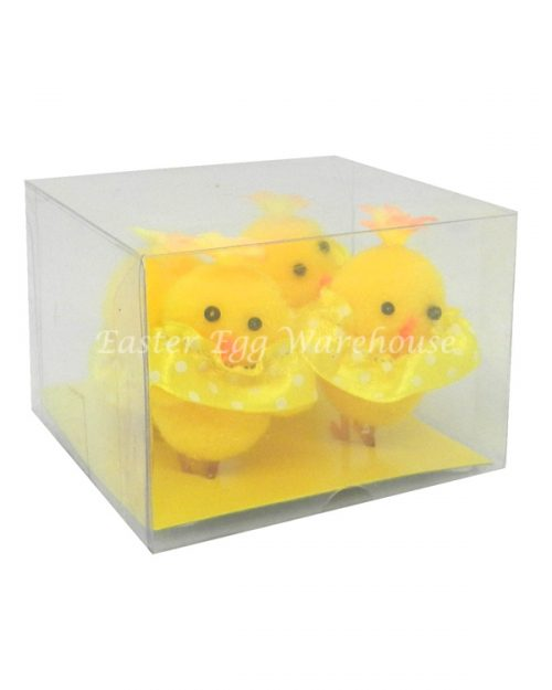 Chick in Dress - Yellow 4pk
