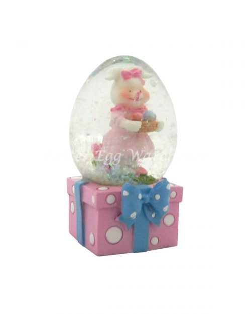 Snowglobe Pink Bunny with Dress