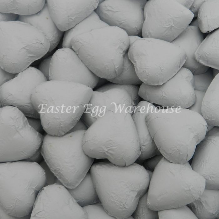 Milk Chocolate Hearts - White 1kg