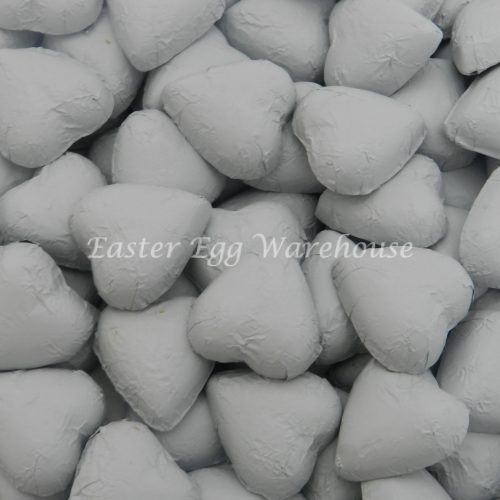 Milk Chocolate Hearts - White 500g