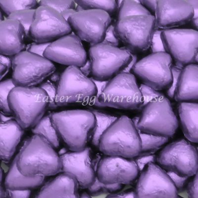Milk Chocolate Hearts - Lilac 500g