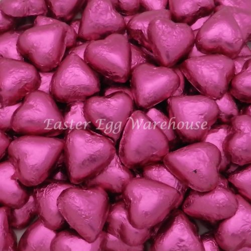Milk Chocolate Hearts - Pink 5kg