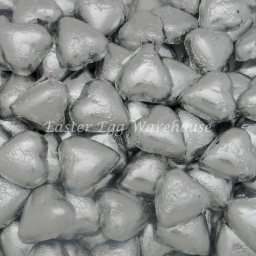 Milk Chocolate Hearts - Silver 5kg