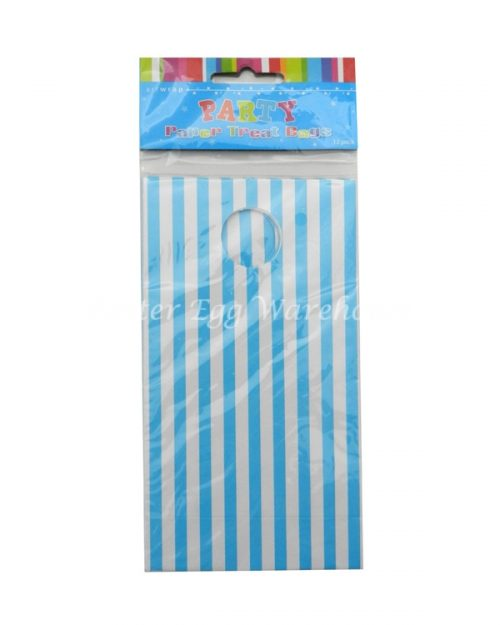 Blue & White Stripe Treat Bags 12pk