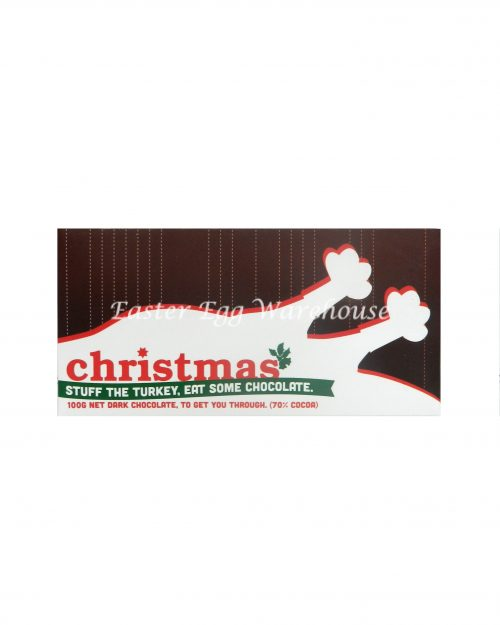 Christmas Stuff the Turkey, Eat Some Chocolate - Milk Chocolate Bar 100g