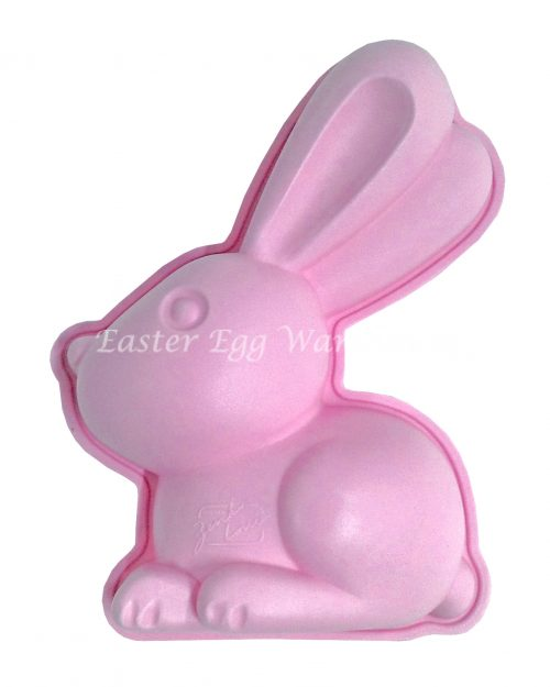 Silicone Bunny Mould Pink 14cm