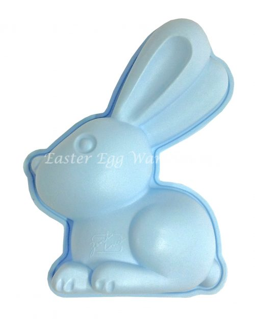 Silicone Bunny Mould Blue 14cm