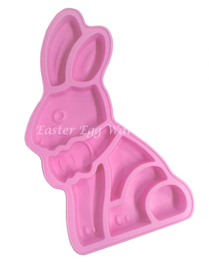 Silicone Bunny Jigsaw Cake Mould Pink 37.5cm