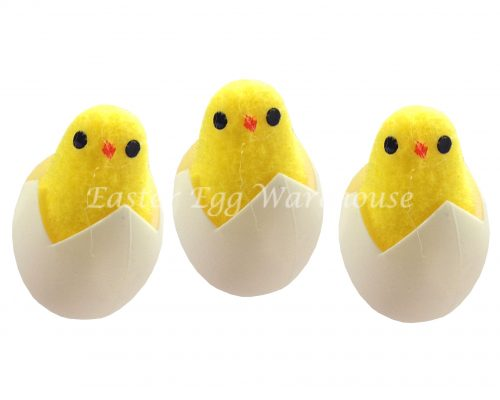 Decorative Easter Chickens Hatching 3pk