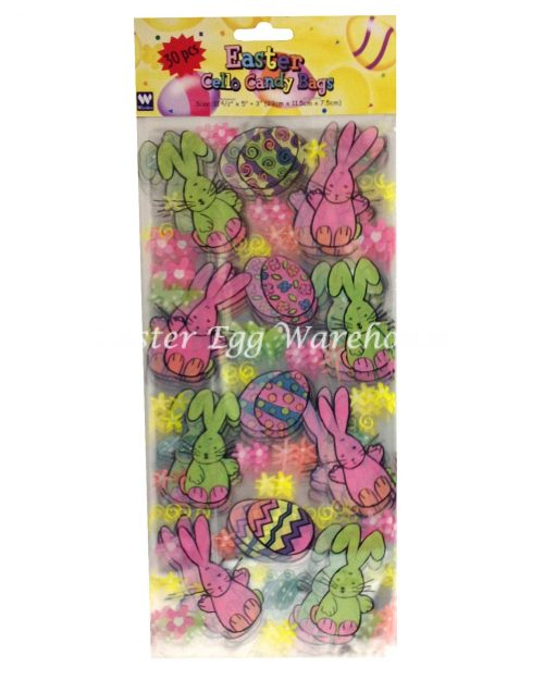 Easter Cello Treat Bags 30pk Pastel Bunny and Eggs