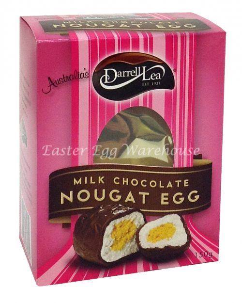 Darrell Lea Milk Chocolate Soft Nougat Egg Blue Gift Box 150g