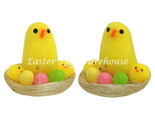 Chick & Egg in a basket Set 2pk