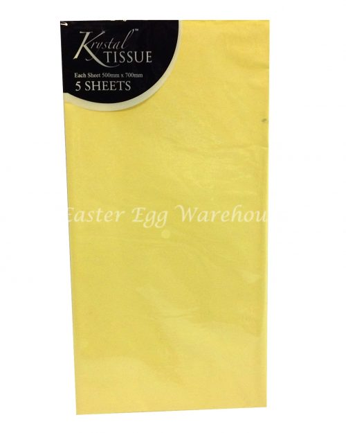 Tissue Paper Yellow - 5 Sheets