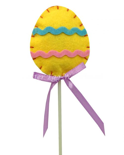 Felt Egg Pick 30cm Yellow