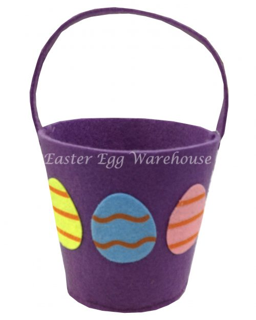 Felt Easter Basket - Purple