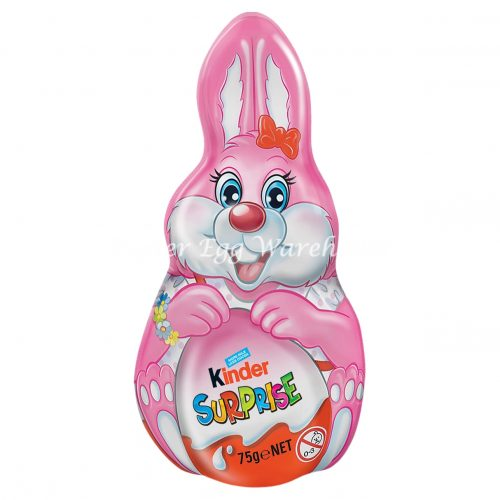 Kinder Surprise Pink Foil Easter Bunny 75g