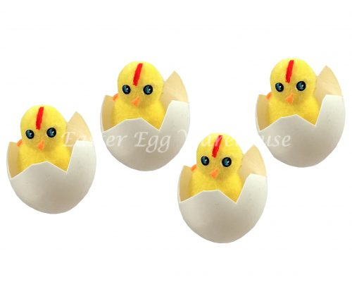 Decorative Easter Chickens Hatching 4pk