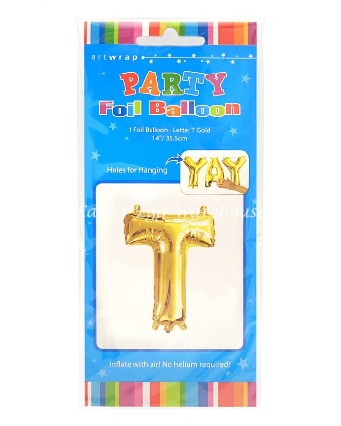 Party Foil Balloon Gold T 35.5cm