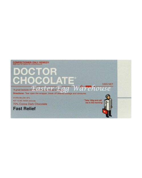 Doctor Chocolate - Dark Chocolate Bar 100g