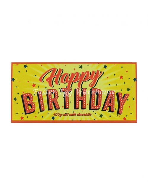 Happy Birthday - Milk Chocolate Bar 100g