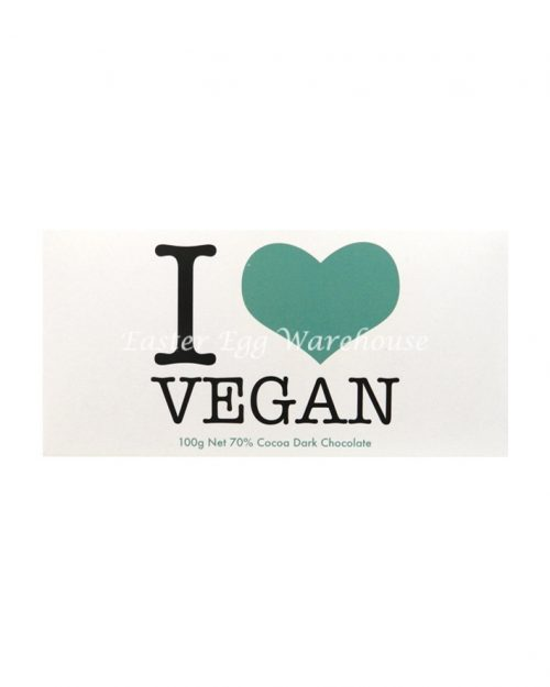 I Love Vegan - Dark Chocolate Bar 100g
