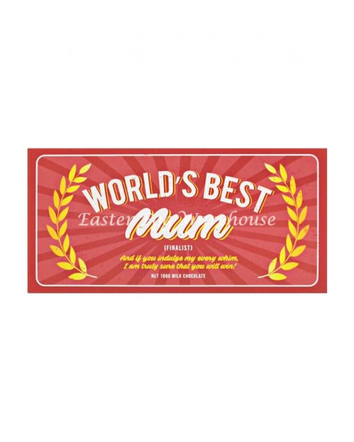 World's Best Mum - Milk Chocolate Bar 100g